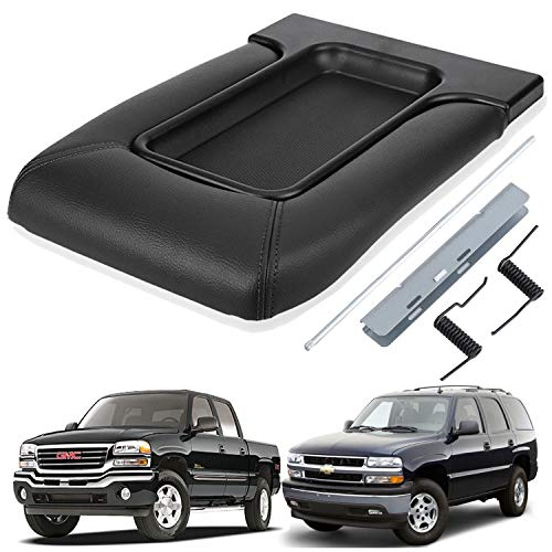 Zinger Center Console Lid Kit for GM Chevy Silverado Tahoe Suburban Avalanche Cadillac Escalade Sierra Yukon SUV Pickup Truck- Replacement 19127364-black - Gmc Sierra Replacement Parts