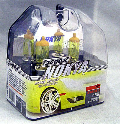 Nokya Arctic Yellow H7 Headlight Bulb (Stage 1)