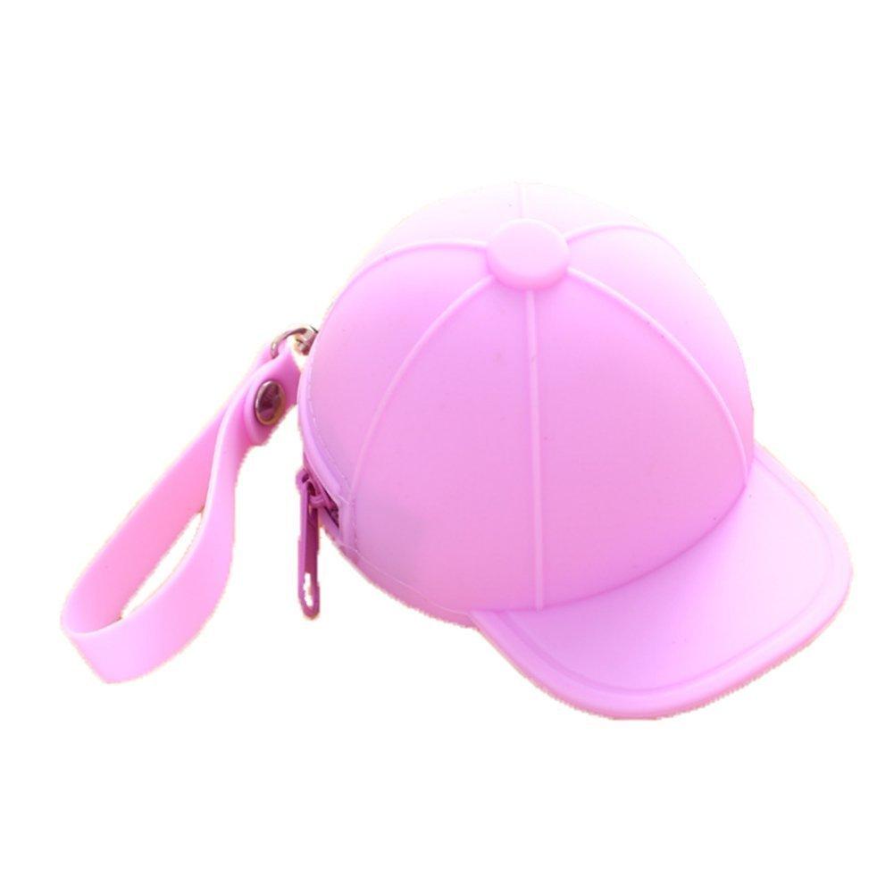 westeng Portamonete in silicone forma di cappello sacchetto di moneta con zip colorato