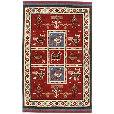 Traditions Tribal Rug, 4-Feet by 6-Feet, Red by Traditions