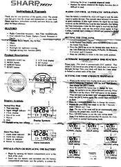 amazon com sharp spc364 atomic lcd bedside alarm clock silver rh amazon com Sharp Spc354 User Manual Sharp Atomic Clock with Temperature
