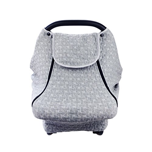 Baby Infant Carseat Stroller Cover with Mosquito Net, Sunshade, Cotton Air Layer, Protect from Bugs, Dust & Wind, Thermal Insulation, Cooling Cover, Boys & Girls, 6365CM by YWXJY