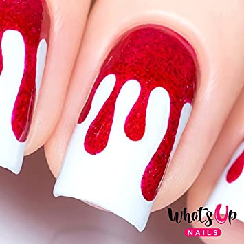 Amazon Whats Up Nails Dripping Vinyl Stencils For Nail Art