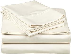 Ras Decor Linen Duvet Cover Set Western King Size, Ivory Solid, 5 Piece 400 TC Luxury Cotton Down Comforter Quilt Cover with Zipper Closure
