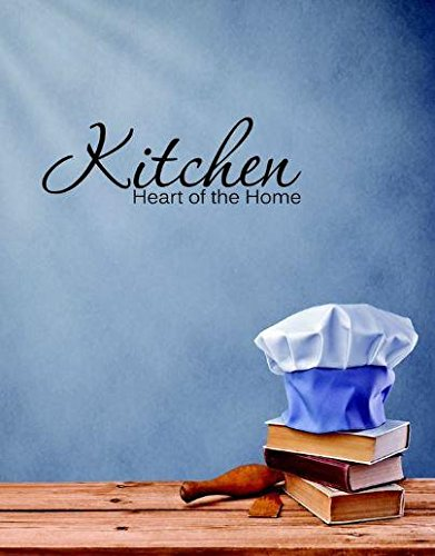 14 x 28 Design with Vinyl RE 2 C 2123 Kitchen Heart Of The Home Quote Vinyl Wall Decal Sticker