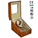 KAIHE-BOX Luxury Single 2+3 Watch Winder (many color ) Display Box Case [100% Handmade] GC03-S24BB , Yellow