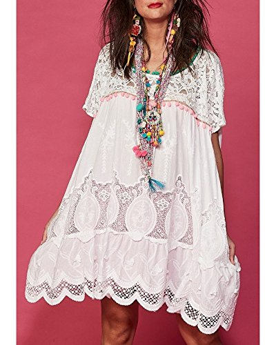 Antica Sartoria Positano Abito Bianco Shabby Chic One Size cod af014 ... f2418db5b9a