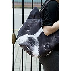 Boston Terrier Dog Shoulder Bag Tablet PC Bag Doggy Purse