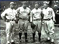 Lou Gehrig Babe Ruth Jimmy Foxx Mickey Cochrane Vintage 8x10 Photo in Mint Condition