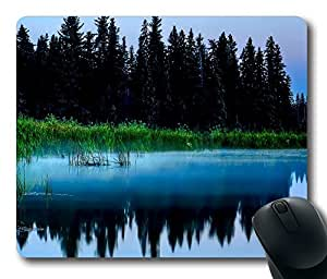 Design Misty Lake And Dark Forest Mouse Pad Desktop Laptop Mousepads Comfortable Office Mouse Pad Mat Cute Gaming Mouse Pad