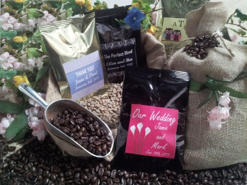 Wedding or Party Coffee Favors - Set of 12 (Black) -