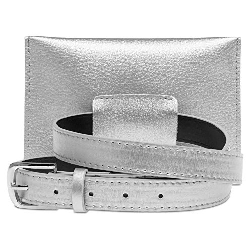 Women Silver Belt Elegant for Including Bag TS1063 Belt Small Rhinestones and with CASPAR Rivets w7OXqZ