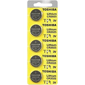 Amazon Com Toshiba Cr2025 3 Volt Lithium Coin Battery 5