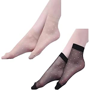 1b99e0e5dce ayushicreationa Women s Ultra-Thin Transparent Nylon Ankle Length No Thumb  Socks (Beige and black