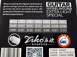2 JUEGOS de cuerdas para guitarra acústica marca Ziko MOD. DNF-010 ...