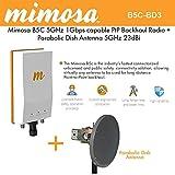 Mimosa B5C Backhaul Radio GPS 4x4:4 MIMO PoE + Parabolic Dish Antenna 5GHz 23dBi