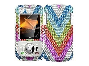 Rainbow Bling Rhinestone Faceplate Diamond Crystal Hard Skin Case Cover for Motorola Debut i856