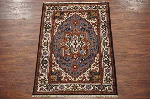Persian 4X6 Heriz Serapi Hand-Knotted Wool Area Rug Oriental Carpet (3.11 x 5.11)