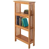 "Manchester Wood Mission 46"" Bookshelf - Golden Oak"