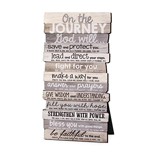 Lighthouse Christian Products Journey 5 x 10 Stacked Wood Desktop/Wall Plaque (Plaques Desktop)