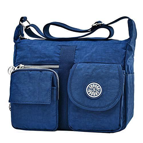 L Azul Nailon zk757 Moonbuy Oscuro Para Bolso De Ms Cruzados Mujer pxqgR