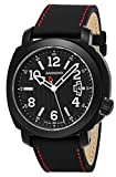 Anonimo Mens Sailor 43 MM Black Face Date Black Leather Strap Swiss Mechanical Watch AM200002012A01