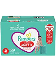 Pampers Diapers Size 5 - Cruisers 360˚ Fit Disposable Baby Diapers with Stretchy Waistband, 100 Count, Enormous Pack (Packaging May Vary)