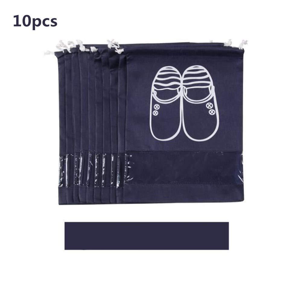 トミカチョウ Yiwa 10個/パック シューズバッグ 軽量 不織布 防塵 ドローストリング Yiwa 靴バッグ 靴バッグ 防塵 旅行靴収納バッグ ネイビー B07MFLGJPZ, 里見デザイン:0df2b6a2 --- a0267596.xsph.ru