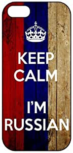 Keep Calm I'm Russian, Russia Flag, iPhone 5 Premium Hard Plastic Case, Cover, Aluminium Layer, Quote, Quotes, Motivational, Inspirational, Theme Shell