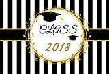 AOFOTO 7x5ft Class of 2018 Graduation Backdrop Congrats Grad Cap Party Decor Photography Background College School Ceremony Celebration Photo Studio Props Commencement Student Education Photobooth