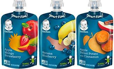 Gerber Assorted Fruit Toddler Pouch Variety Pack (Pack of 18)