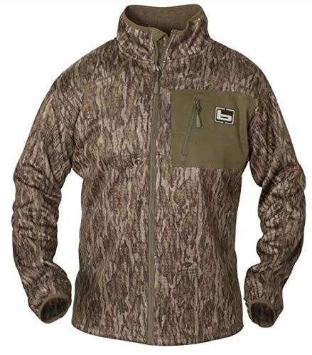 Banded Full Zip Mid Layer Fleece Jacket-Bottomland-Large