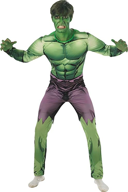 Amazon.com: Rubies Official Marvel Hulk Deluxe, Adult ...
