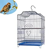 Birdcages Bold Stainless Steel Bird Cage Parrot Pigeon Large Special Breeding Bird Villa