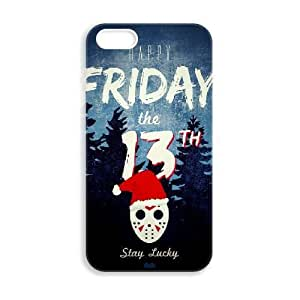JiHuaiGu (TM) iPhone 4 4S funda viernes 13 FINAL CAPÍTU personalizado temático iPhone 4 4S funda OK7769