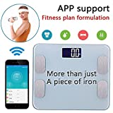 Amerzam Smart Scale,bluetooth Body Scale Bathroom Scale Wireless Body Fat S ....
