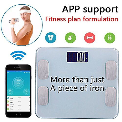 Comprehensive Scale Manual (Amerzam Smart Scale,Bluetooth Body Scale Bathroom Scale Wireless Body Fat Scale with IOS and Android App to Manage Body weight, Body Fat, Water, Muscle Mass, BMI, BMR, Bone Mass)