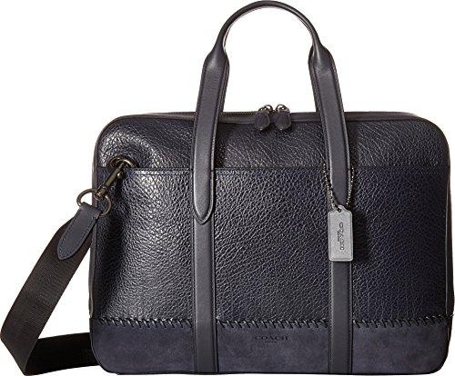 Briefcase Baseball Leather (COACH Men's Metropolitan Soft Brief ft Baseball Stitch Qb/Midnight Navy One Size)