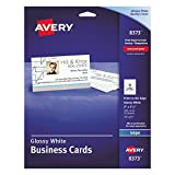 Avery 8373 Print-to-the-Edge Microperf Business Cards, Inkjet, 2x3 1/2, White, Gloss (Box of 200)