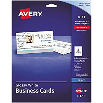 Amazon avery 8373 print to the edge microperf business cards avery 8373 print to the edge microperf business cards inkjet 2x3 reheart Image collections
