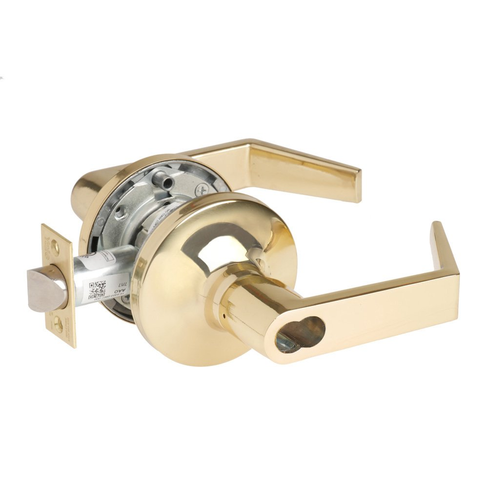 Yale Security AU 5408LN 1210 605 LC 2-3//4 Backset 605 Brass//Steel//Zinc//Stainless Steel Yale Security Inc Grade 1 Classroom Bright Polished Brass