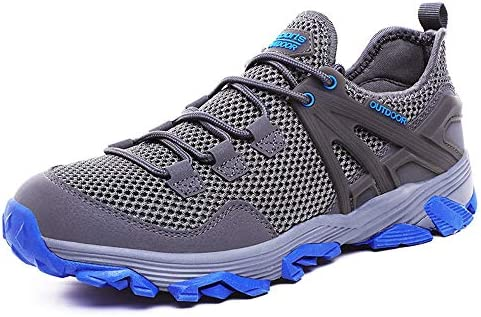 ZFLIN Sports Shoes Outdoor Hiking Flying Woven Running Shoes Mens Lightweight Non-Slip