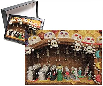 Photo Jigsaw Puzzle of Day of the Dead Folk Art, Oaxaca City, Oaxaca, Mexico, North America