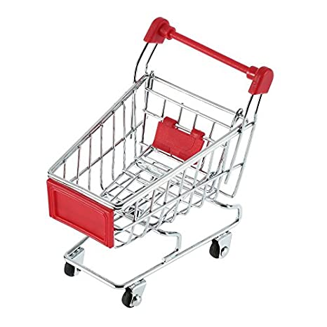 Lovlysunshiny Lindo Carrito de Mano de supermercado de Acero Inoxidable Mini Shopping Utility Utility Colors: Amazon.es: Hogar