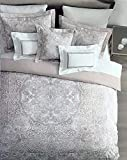 Tahari 3 Pc Reversible Duvet Cover Set Vintage Boho Hippie Style Intricate Tapestry Medallion Pattern Light Pink White, 100% Cotton Luxury Quilt Comforter Cover - Emmalyn (King)