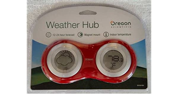 NEW OREGON SCIENTIFIC WHITE WEATHER HUB FORECAST INDOOR OUTDOOR DESK THERMOMETER