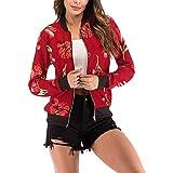 PENGYGY Floral Print Blouse Hooded Baseball Jacket Zipper Fashion Autumn and Winter Slim Irregular Cardigan Slimming
