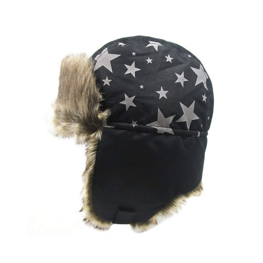 AGTRRYHZ Sombrero t/érmica Sombrero de la Caza al Aire Libre de esqu/í de Invierno Sombreros Ushanka de los ni/ños con Orejeras Orejeras Adecuado for ni/ños de 7-10