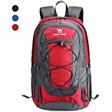 CAMEL CROWN 30L Lightweight Travel Backpack Outdoor Mountaineering Hiking  Daypack with Durable   Waterproof (red f66f02fe18