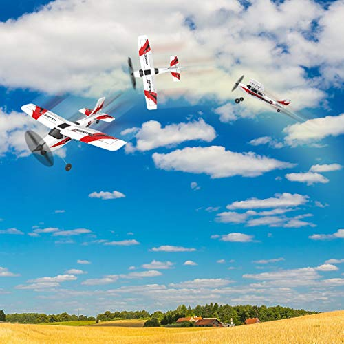 COLOR-LILIJ RC Airplane with 2.4GHz Over 320 ft Control, 6-Axis Gyro, 3-Level Flight Control assists - Help Beginners Learn to Fly Step by Step, Easy to Fly 761-1 RTF Plane for Beginners,US Stock by COLOR-LILIJ (Image #4)